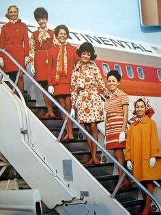 vintage continental airlines fa's uniforms