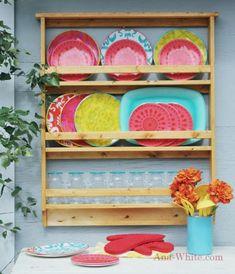 DIY Outdoor Dish Rack// Free Plan from Ana White