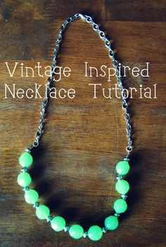 Easy Vintage-Style Beaded Necklace #Tutorial