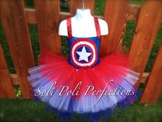 Captain America Tutu Costume by SoliPoliPerfections on Etsy, $35.00