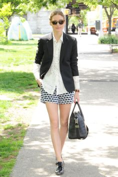 Olivia Palermo in Banana Republic Milly Collection