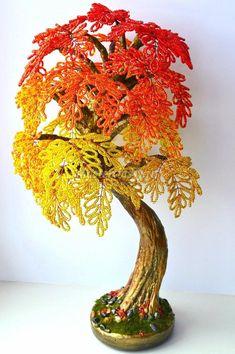 Деревья из бисера мастер класс с пошаговым