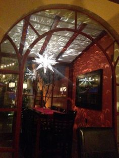 Dining room in the evening at The Red Tree House Mexico City