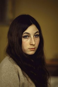 A young Anjelica Huston in the late 1960's~
