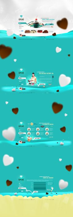 Cupcake Factory by Sergio Rodriguez, via Behance