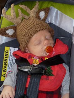 Knitted Deer Hat by KnittinAroundLady on Etsy, $15.00