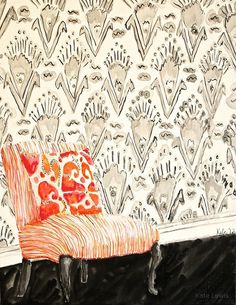 Ikat and Stripes  Kate Lewis