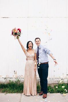 //Love this gold wedding dress.