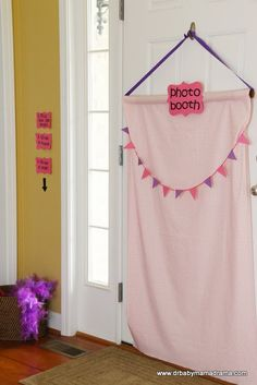 hang a sheet or something as back drop for cute/funny pictures