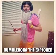 Dumbledora the Explorer. Someone give this man a medal.