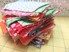 Bee In My Bonnet: Tutorials. Using fabric scraps.