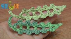Crochet Leaf Long Picots Around Tutorial 23