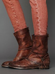 HTC Myth Back Zip Boot   by Free People