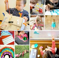 20 fine motor activities. Easy to set up; one every week, for the next five months. via Lessons Learnt Journal
