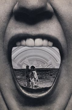 #space #spaceman #mouth #lips #psychedelia