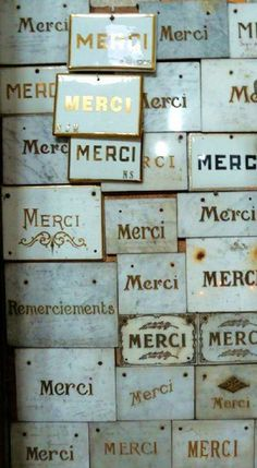 Merci | Type