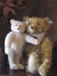 Teddy Bear Steiff White Mohair Dicky Bear 1933 Replica 18 of 7000