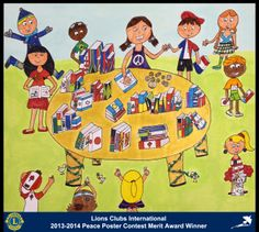 Merit Award Winner, Bell Machlouf, from Israel (Herzilia Lions Club) - 2013-2014 Lions Clubs International Peace Poster Contest