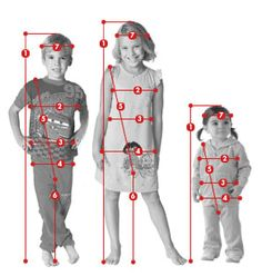 kid fit - measurement charts including torso length