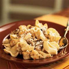 Chicken and Mushrooms in Garlic White Wine Sauce | MyRecipes.com