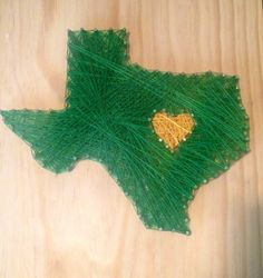 #Baylor University, Deep in the Heart of Texas // Baylor String Texas Art found on Etsy