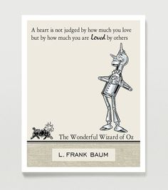 Wizard of Oz Quote Poster  Inspirational Quote