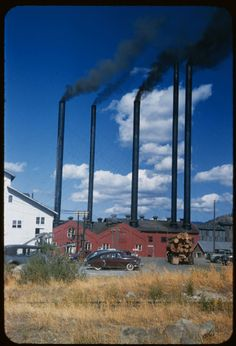 Long-Bell Lumber Co. at Weed, CA, near Mt. Shasta. 1954 Aug. 20.