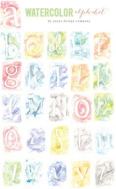 watercolor-alphabet-collection
