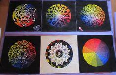 color wheel project ideas | Complex Color Wheel | high school art project | School Ideas