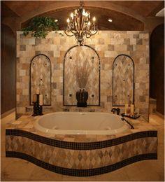 Tuscan bathroom on pinterest tuscan bathroom bathroom for Tuscan master bathroom ideas