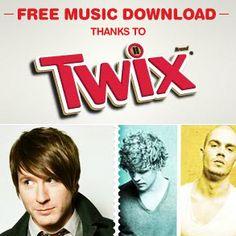 FREE Music Downloads from Twix and Pandora #freemusic