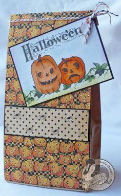 Happy Haunting Graphic 45 paper Halloween bag