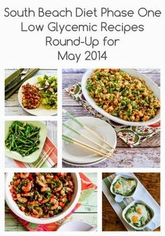 South Beach Diet Phase One Recipes Round-up for May 2014 (and an announcement about future round-ups).  All the recipes in these round-ups are #GrainFree and #GlutenFree. [from Kalyn's Kitchen] diet phase, south beach diet