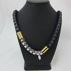Authentic PHILIP LIM Organza Box Chain long necklace