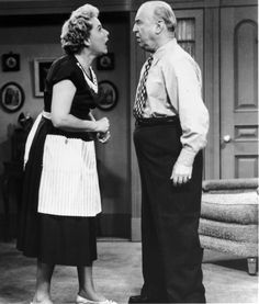 """What is Ethel yelling at Fred about now?  Caption this """"I Love Lucy"""" Season 6 moment! http://ow.ly/bAmdS"""
