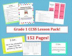 1st grade common core lesson pack.