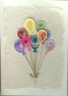 Quilling: balloons