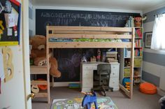 Kids' Shared Room // DIY Loft Bed by Meg Padgett from Revamp Homegoods diy loft, loft bed, kid
