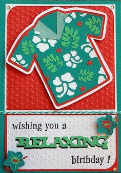 Cricut Birthday Card. Pack Your Bags Cartridge.  *