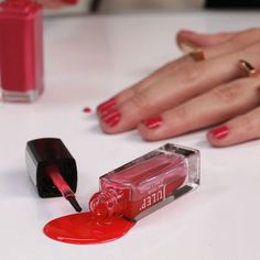 Ahh! Spill your polish? Learn how to get your nail polish out of anything: fabrics, hair — even your leather items!