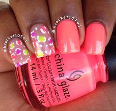 Neon Leopard Print Nails China Glaze Thistle Do Nicely #nails #nailart #naildesigns #chinaglaze