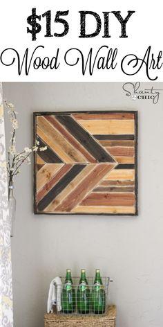 DIY Wood Wall Art inspired by Pottery Barn!