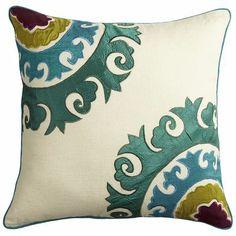 Jewel-Tone Suzanni Pillow