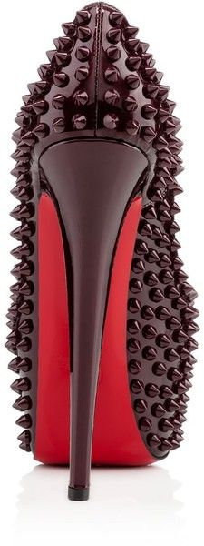 Christian Louboutin Red Daffodile Stiletto Spikes #CL #Louboutins #Shoes #Heels