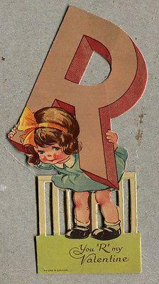 1934 Valentine's Day Card Girl Charles Twelvetrees Germany