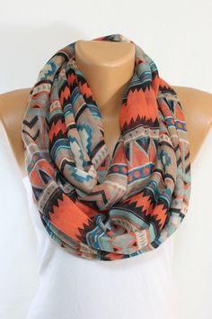 woman fashion, infinity scarfs, fashion accessories, spring scarves, aztec scarves, tribal prints, fashion women, southwestern scarf, chevron