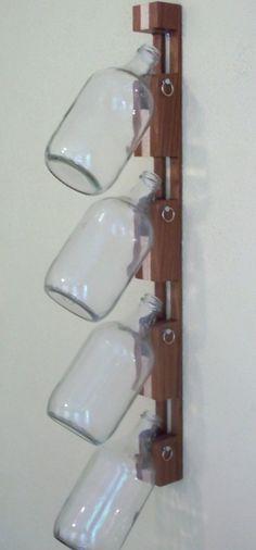 Sapele/Maple Wall Clip for Growlers Bottle Holder Half Gallon Hardwood Storage on Etsy, $50.00