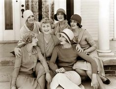 Bessie-Love-and-friends-taken-in-1928-The-Age-of-Chic. #Downton #Fashion #Era