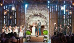 Blake and Miranda's rustic wedding ceremony. See more country music stars' wedding photos in our gallery >> http://www.gactv.com/gac/ar_artists_a-z/article/0,3028,GAC_26071_6050919_01,00.html
