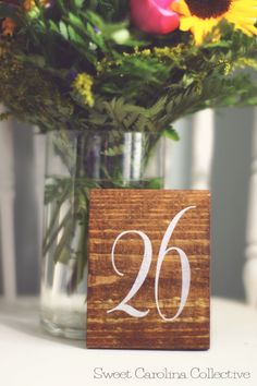 Wedding Table Numbers Table Number Wedding  by SweetNCCollective, $4.00